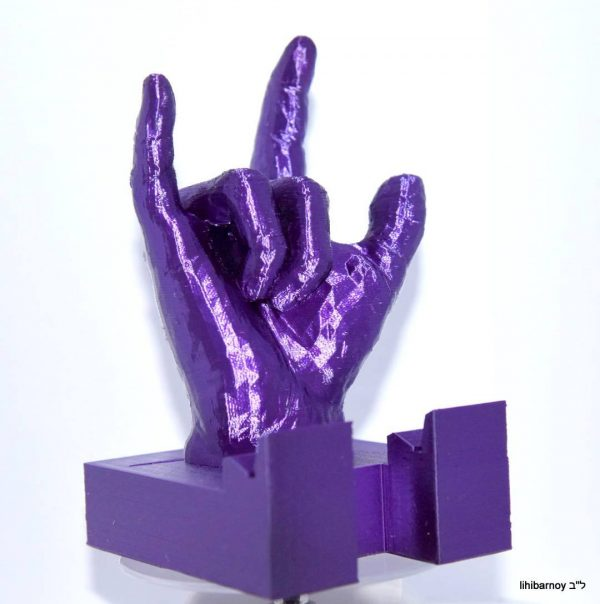 Purple - Lights up ASL I love You iPhone iPad Android holders