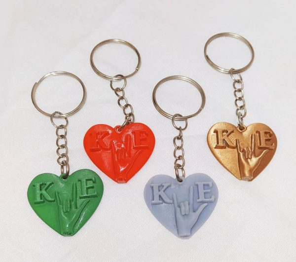 """ILYHeart"" Keychains for you!"